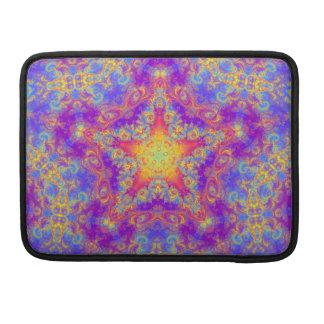 Warm Glow Star Bright Color Swirl Kaleidoscope Art MacBook Pro Sleeve