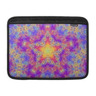 Warm Glow Star Bright Color Swirl Kaleidoscope Art MacBook Sleeve