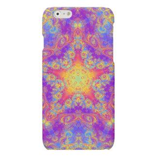 Warm Glow Star Bright Color Swirl Kaleidoscope Art Matte iPhone 6 Case
