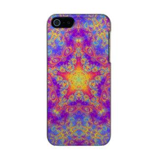 Warm Glow Star Bright Color Swirl Kaleidoscope Art Metallic Phone Case For iPhone SE/5/5s