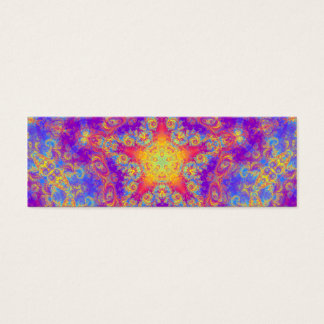 Warm Glow Star Bright Color Swirl Kaleidoscope Art Mini Business Card