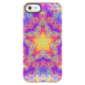 Warm Glow Star Bright Color Swirl Kaleidoscope Art Permafrost® iPhone SE/5/5s Case