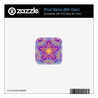 Warm Glow Star Bright Color Swirl Kaleidoscope Art Skins For iPod Nano 6G