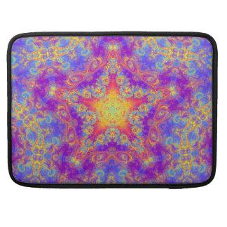 Warm Glow Star Bright Color Swirl Kaleidoscope Art Sleeve For MacBooks