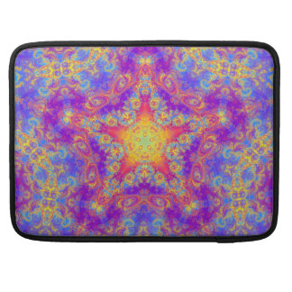 Warm Glow Star Bright Color Swirl Kaleidoscope Art Sleeves For MacBooks