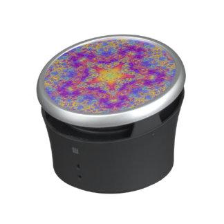 Warm Glow Star Bright Color Swirl Kaleidoscope Art Speaker