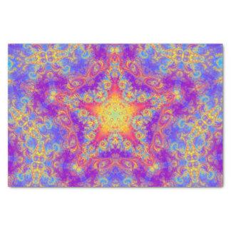 Warm Glow Star Bright Color Swirl Kaleidoscope Art Tissue Paper