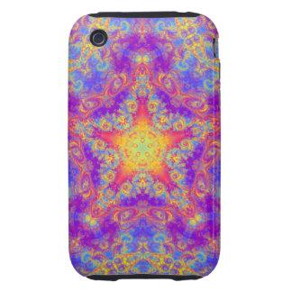 Warm Glow Star Bright Color Swirl Kaleidoscope Art Tough iPhone 3 Cover