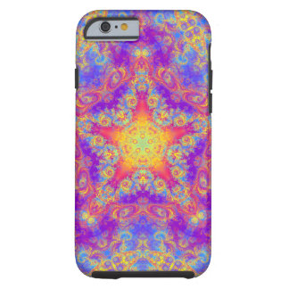 Warm Glow Star Bright Color Swirl Kaleidoscope Art Tough iPhone 6 Case