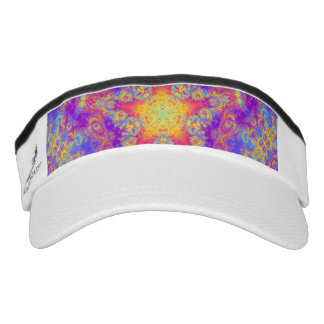 Warm Glow Star Bright Color Swirl Kaleidoscope Art Visor