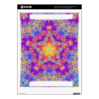 Warm Glow Star Bright Color Swirl Kaleidoscope Art Xbox 360 Console Skins