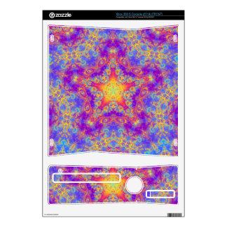 Warm Glow Star Bright Color Swirl Kaleidoscope Art Xbox 360 S Decal
