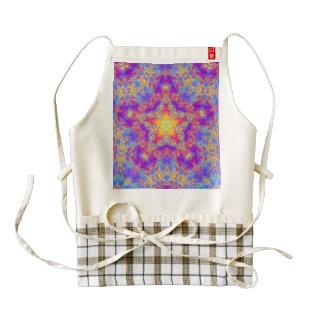 Warm Glow Star Bright Color Swirl Kaleidoscope Art Zazzle HEART Apron