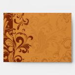 Warm Golden Autumn Swirl Envelopes