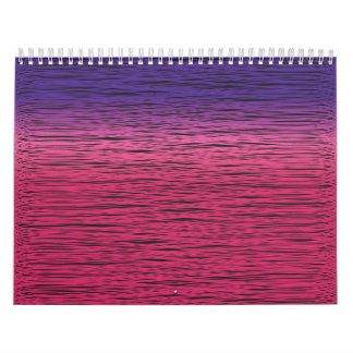 warm gradient wall calendars