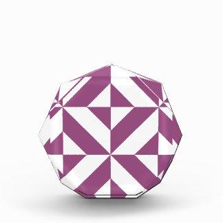 Warm Grape Geometric Deco Cube Pattern Award