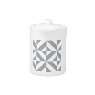 Warm Gray Geometric Deco Cube Pattern