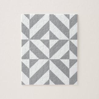 Warm Gray Geometric Deco Cube Pattern Puzzles