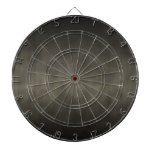 Warm Gray Goth Ombre Background Art Dartboard