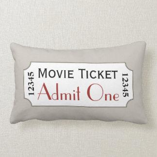 Warm Gray Movie Ticket Cinema Pillow