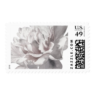 Warm Gray Peony Med Wedding Postage Stamps