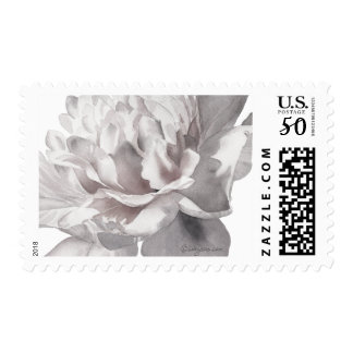 Warm Gray Peony Wedding Postage