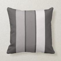 "Warm Grey 3 Stripe (1 of 3) 16"" Throw Pillow"