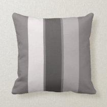 "Warm Grey 3 Stripe (2 of 3) 16"" Throw Pillow"