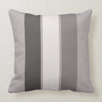 "Warm Grey 3 Stripe (3 of 3) 20"" Throw Pillow"