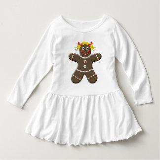 Warm Happy Holiday Gingerbread Girl Dress