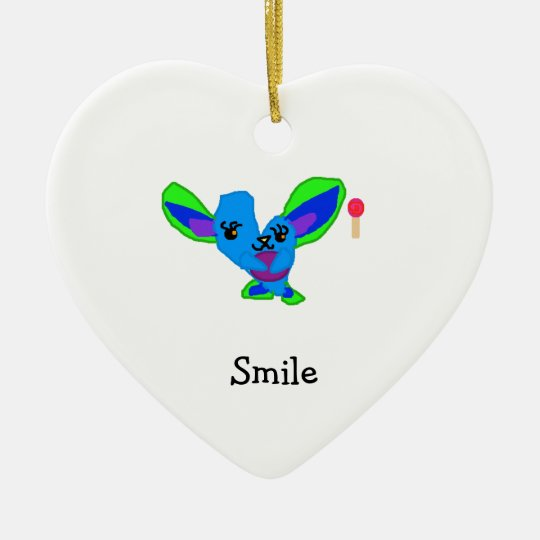 Warm Heart Ceramic Ornament
