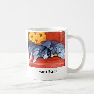 Warm Hearts Classic White Coffee Mug