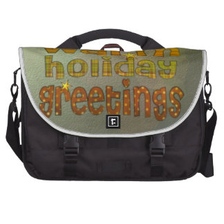 Warm holiday greetings commuter bag