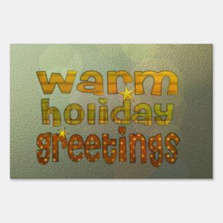 Warm holiday greetings signs