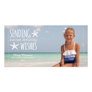 Warm Holiday Wishes | 2014 Holiday Photo Greeting Photo Greeting Card