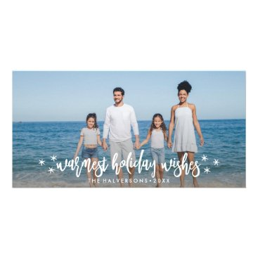 Beach Themed Warm Holiday Wishes Christmas or New Years Photo Card