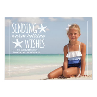 Warm Holiday Wishes | Holiday Photo Greeting 5x7 Paper Invitation Card