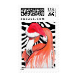 Warm Holiday Wishes Santa Flamingo by GG Burns Stamp