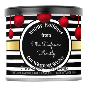 Beach Themed Warm Holiday Wishes w/Your Family Name Hot Chocolate Drink Mix