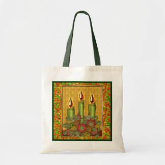 Warm Inviting Candlelight and Flowers Tote Bag