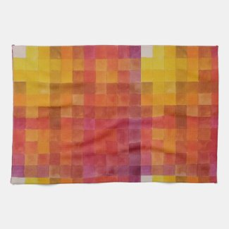 Warm Inviting Red and Yellow Kitchen Towel