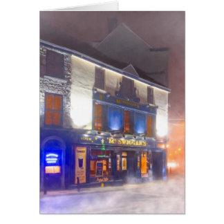 Warm Irish Pub On A Cold Winter Night - Galway Card