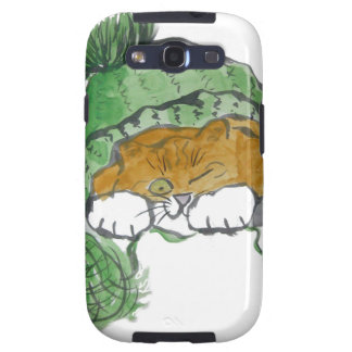 Warm Knit Cap and a Kitten Galaxy SIII Cover