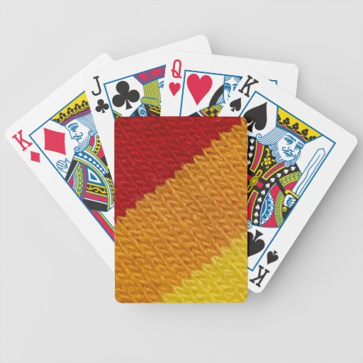 Warm knitted texture bicycle playing cards