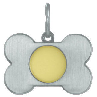 Warm Lemon Yellow Background. Chic Fashion Color Pet ID Tag