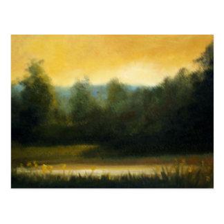 warm light postcard
