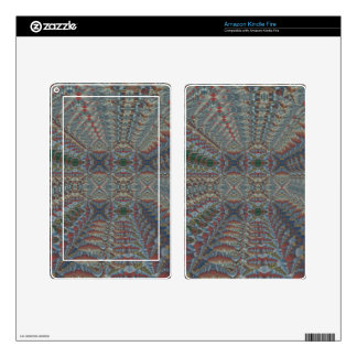 Warm Multi colored Geometric Fractal Pattern Kindle Fire Decals
