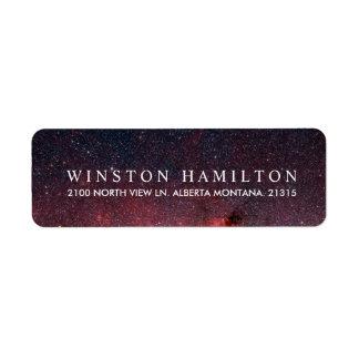 Warm Nebula   Personalized Return Address Label
