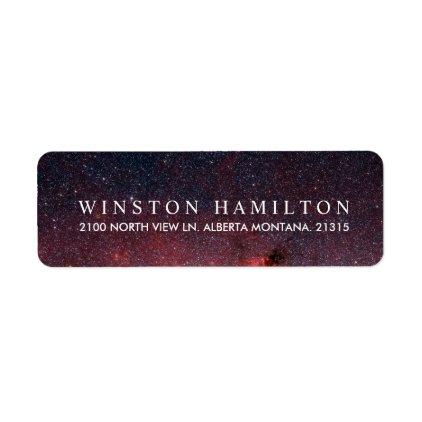 Warm Nebula | Personalized Return Address Label