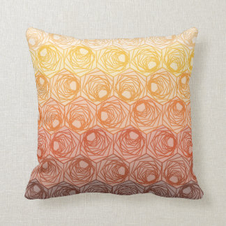 WARM OMBRE HEX PILLOW